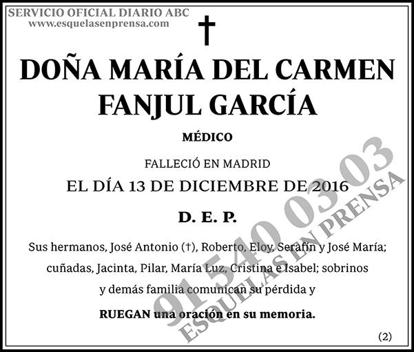 María del Carmen Fanjul García